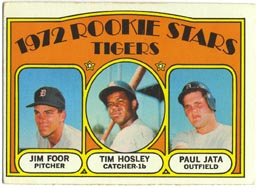 1972 Topps Baseball Cards      257     Jim Foor/Tim Hosley/Paul Jata RC